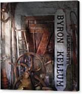 Black Smith - Byron Kellum Blacksmith Canvas Print by Mike Savad