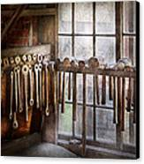 Black Smith - Draw Plates And Hammers  Canvas Print by Mike Savad