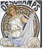 Bleu Deschamps Canvas Print by Georgia Fowler