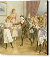 Blind Mans Buff Canvas Print by George Goodwin Kilburne