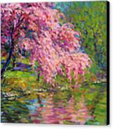 Blossoming Trees Landscape  Canvas Print by Svetlana Novikova