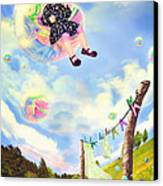 Blowing Bubbles Canvas Print by Fairy Tales Imagery Inc