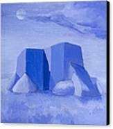Blue Adobe Canvas Print by Jerry McElroy