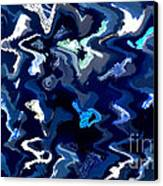 Blue And Turquoise Abstract Canvas Print by Carol Groenen