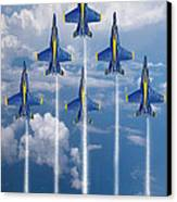 Blue Angels Canvas Print by J Biggadike