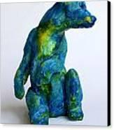 Blue Bear Canvas Print by Derrick Higgins