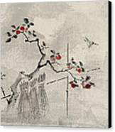 Blue Bird Canvas Print by Aged Pixel