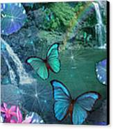Blue Butterfly Dream Canvas Print by Alixandra Mullins