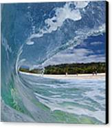 Blue Foam Canvas Print by Sean Davey