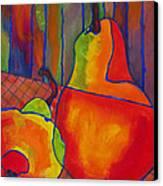 Blue Line Pears Canvas Print by Blenda Studio