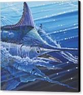 Blue Marlin Strike Off0053 Canvas Print by Carey Chen