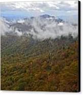 Blue Ridge Parkway Mountain View Canvas Print by Susan Leggett