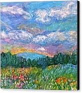 Blue Ridge Wildflowers Canvas Print by Kendall Kessler