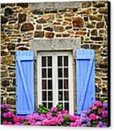 Blue Shutters Canvas Print by Elena Elisseeva