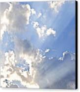 Blue Sky With Sun Rays Canvas Print by Elena Elisseeva