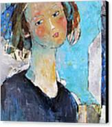 Blue Sonata Canvas Print by Becky Kim