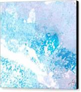 Blue Splash Canvas Print by Ann Powell