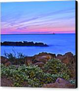 Blue Sunset Canvas Print by Frozen in Time Fine Art Photography