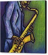 Blue Train Canvas Print by Kamil Swiatek