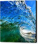 Blue Tube Canvas Print by Paul Topp