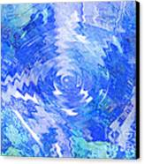 Blue Twirl Abstract Canvas Print by Ann Powell