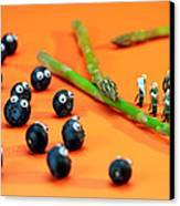 Blueberry Protesting Canvas Print by Paul Ge