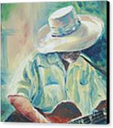 Blues Man Canvas Print by Sharon Sorrels