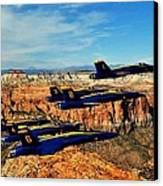 Blues Over Zion Canvas Print by Benjamin Yeager