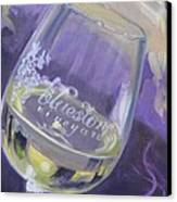 Bluestone Vineyard Wineglass Canvas Print by Donna Tuten