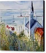 Bluff View St. Annes Mackinac Island Canvas Print by Sandra Strohschein