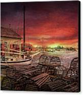 Boat - End Of The Season  Canvas Print by Mike Savad