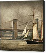 Boat - Sailing - Govenors Island Ny - Clipper City Canvas Print by Mike Savad