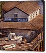 Boat - Tuckerton Seaport - Hotel Decrab  Canvas Print by Mike Savad