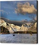 Boating In The Tetons Canvas Print by Dan Sproul