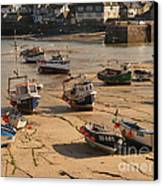 Boats On Beach 03 Canvas Print by Pixel Chimp
