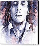 Bob Marley 3 Canvas Print by Yuriy  Shevchuk