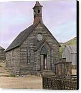 Bodie Church Canvas Print by Mel Felix