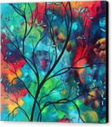 Bold Rich Colorful Landscape Painting Original Art Colored Inspiration By Madart Canvas Print by Megan Duncanson