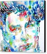 Bono Watercolor Portrait.1 Canvas Print by Fabrizio Cassetta