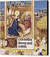 Book Of Hours Of Alonso Fern�ndez Canvas Print by Everett