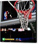 Boston Celtics' Basket Canvas Print by Mike Martin