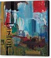 Boston City Collage 3 Canvas Print by Corporate Art Task Force
