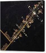 Boston City Skyline Canvas Print by Corporate Art Task Force