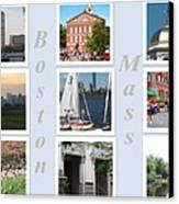 Boston Collage Canvas Print by Barbara McDevitt