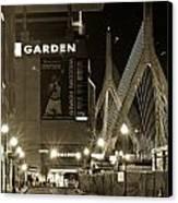 Boston Garder And Side Street Canvas Print by John McGraw