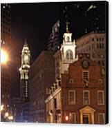 Boston History Canvas Print by Joann Vitali