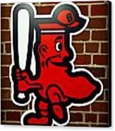 Boston Red Sox 1950s Logo Canvas Print by Stephen Stookey