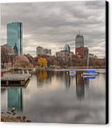 Boston Reflections Canvas Print by Linda Szabo