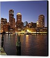 Boston Skyline And Fan Pier Canvas Print by Juergen Roth