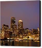 Boston Skyline Blue Hour Canvas Print by Stewart Mellentine